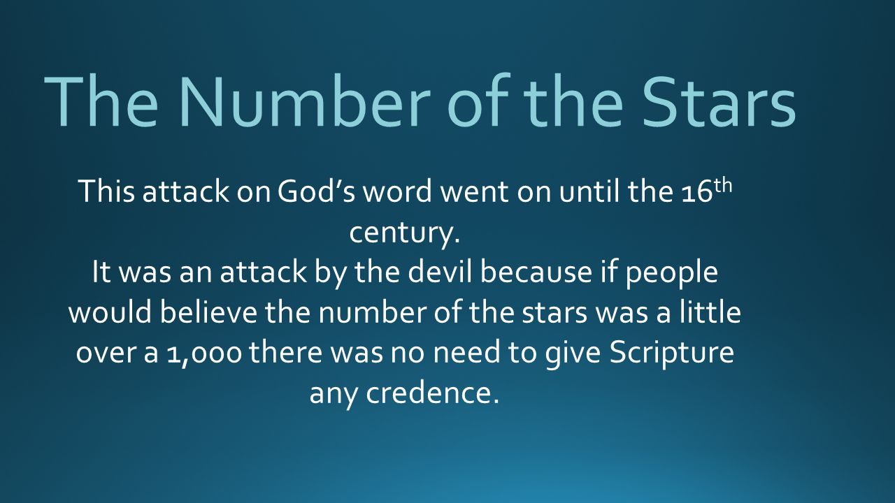 This attack on God's word went on until the 16th century.