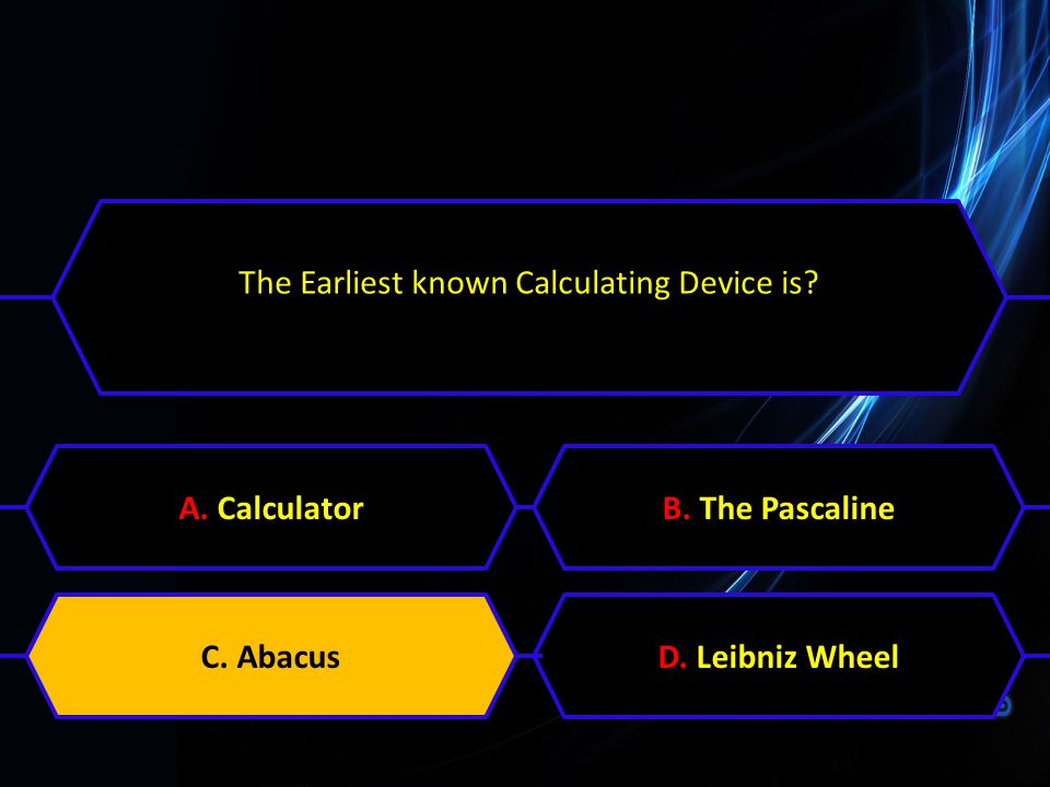 The Earliest known Calculating Device is