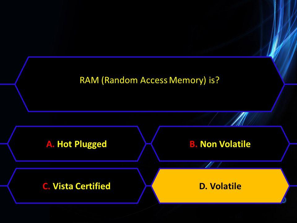 RAM (Random Access Memory) is