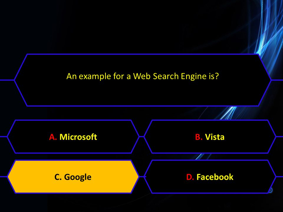 An example for a Web Search Engine is