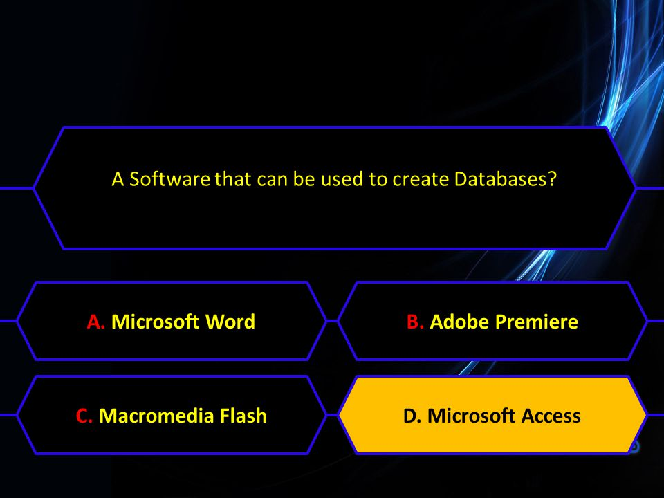 A Software that can be used to create Databases