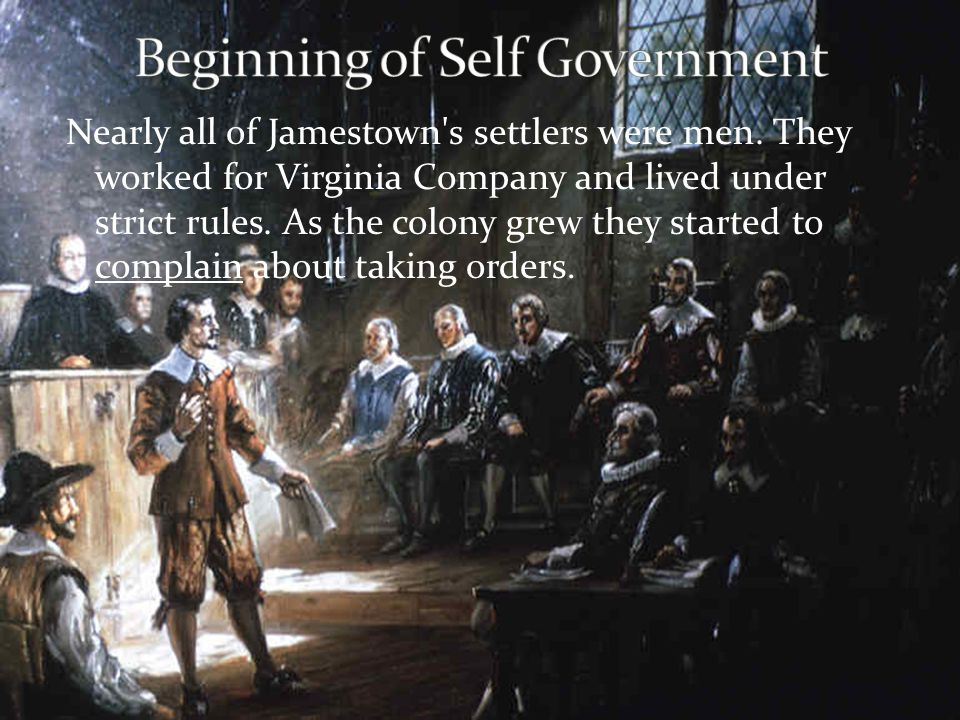 Beginning of Self Government