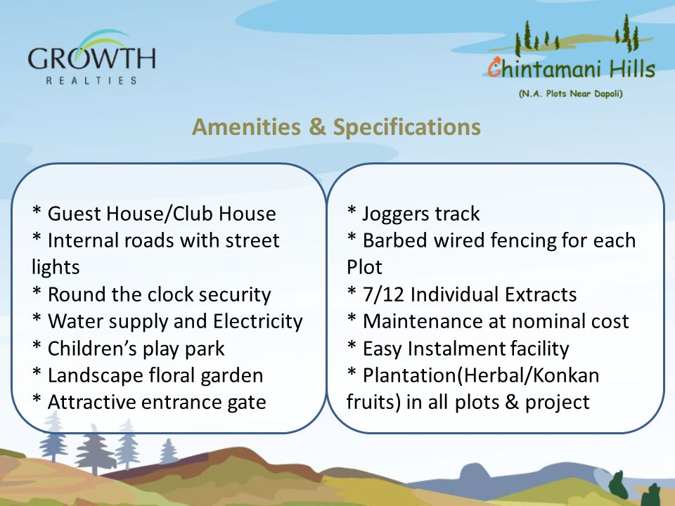Amenities & Specifications