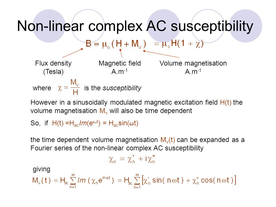 Non-linear complex AC susceptibility