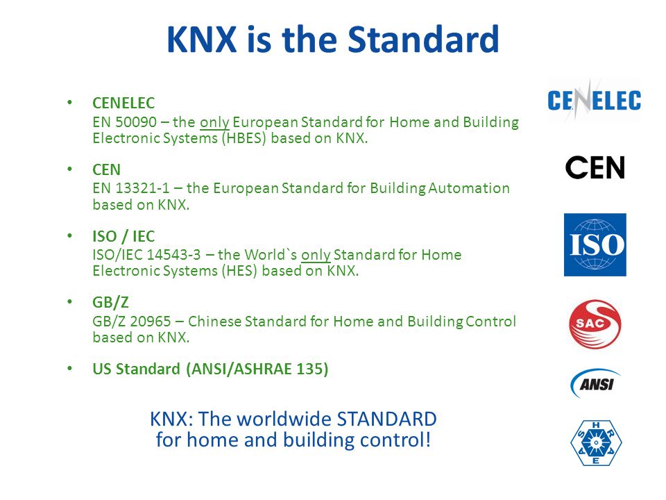 KNX: The worldwide STANDARD for home and building control!