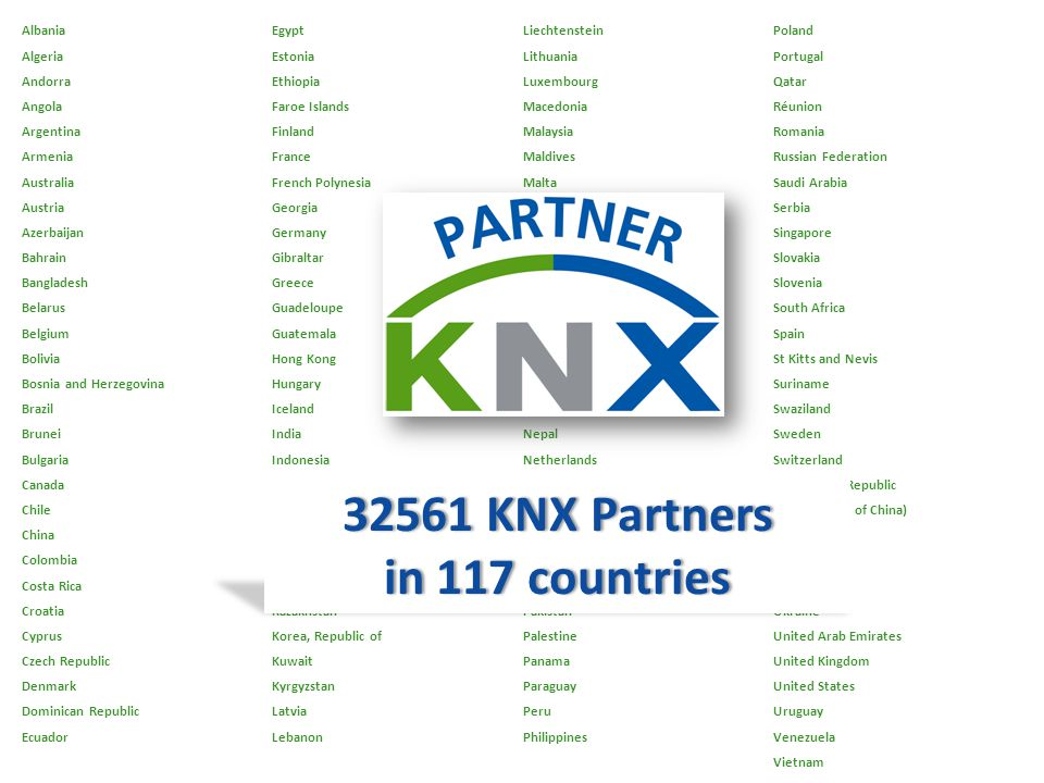 32561 KNX Partners in 117 countries