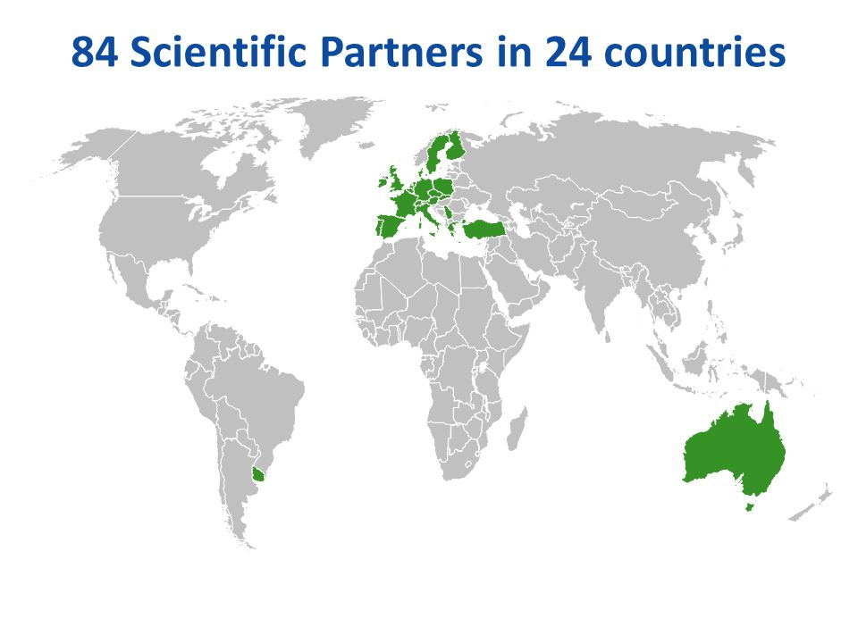 84 Scientific Partners in 24 countries
