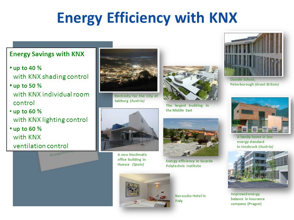 Energy Efficiency with KNX