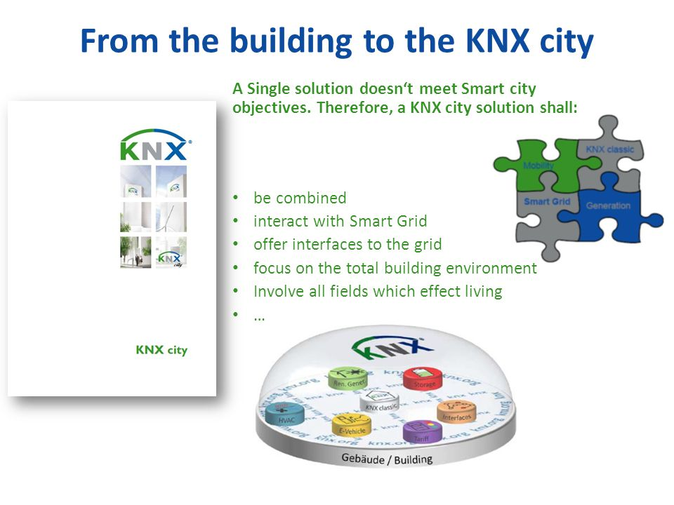 From the building to the KNX city