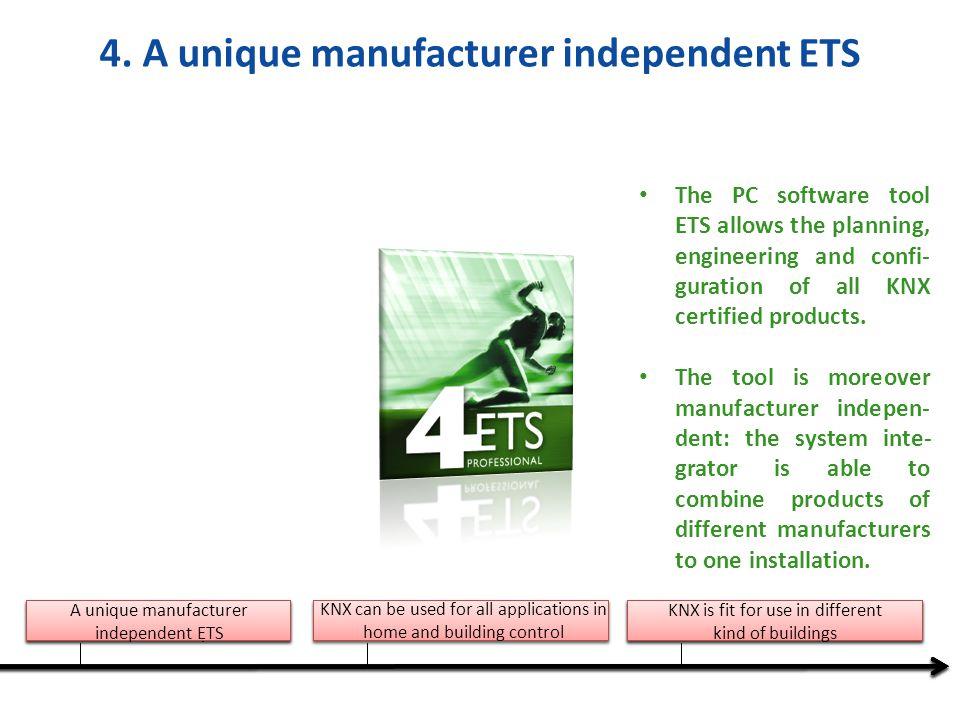 4. A unique manufacturer independent ETS