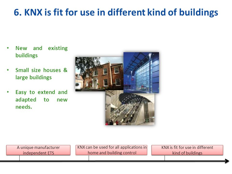 6. KNX is fit for use in different kind of buildings