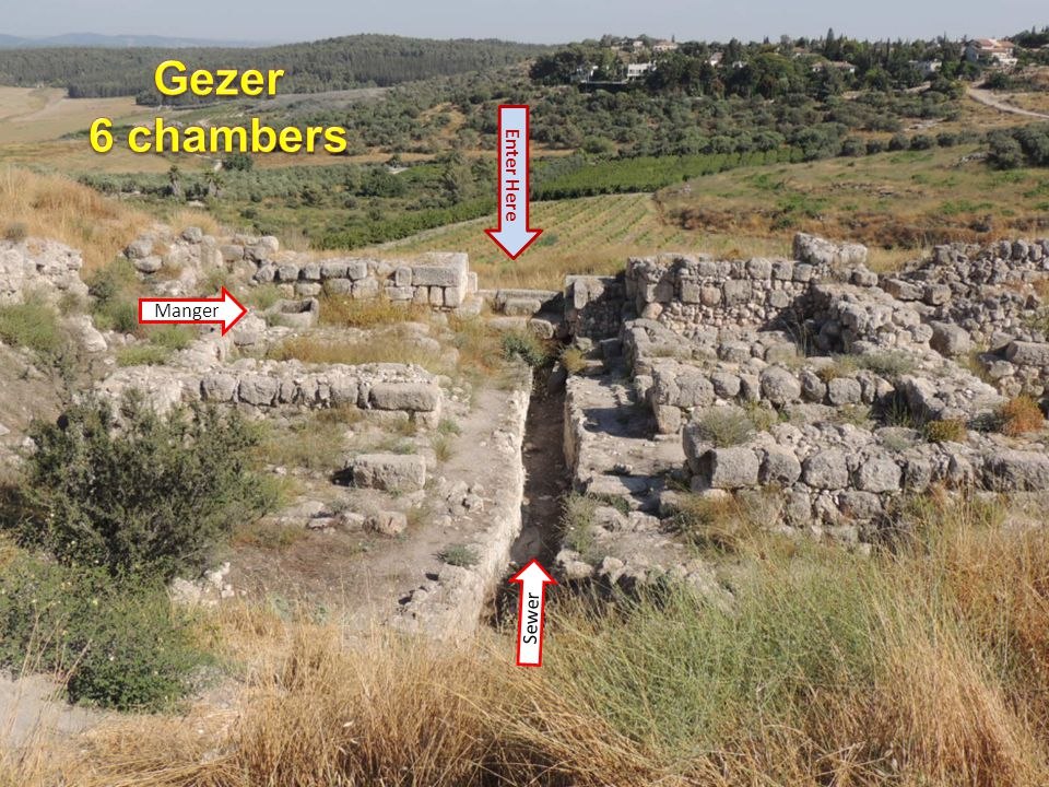 Gezer 6 chambers Enter Here Manger Sewer