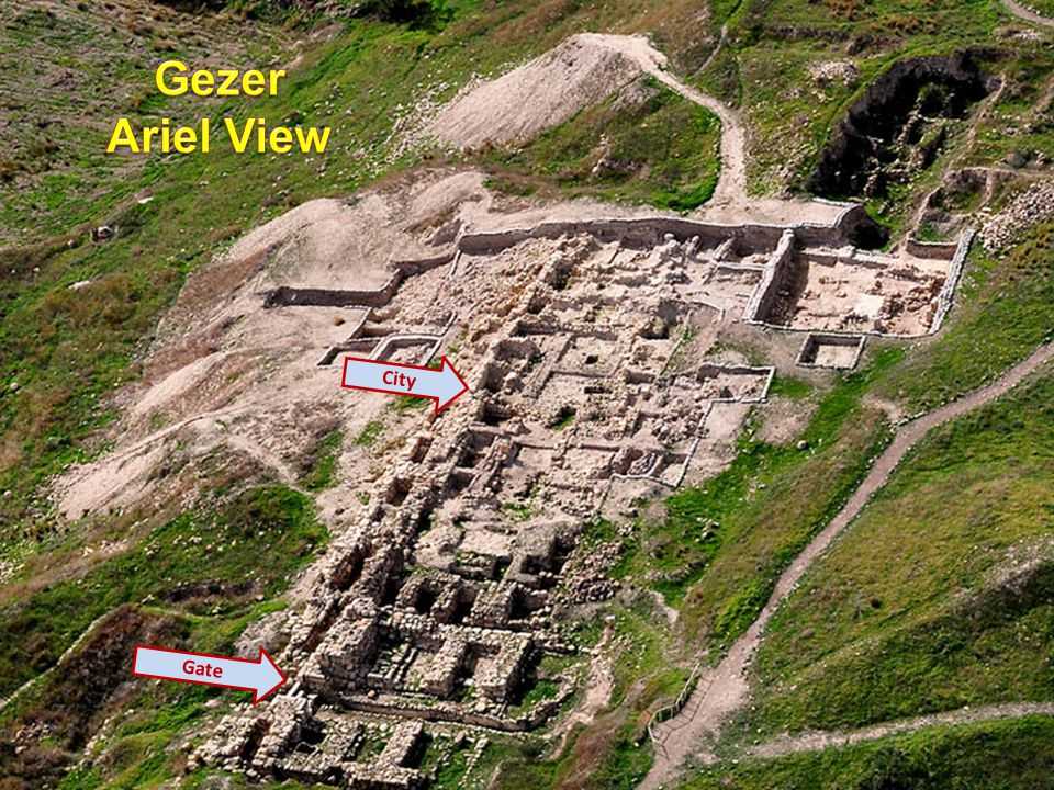 Gezer Ariel View City Gate