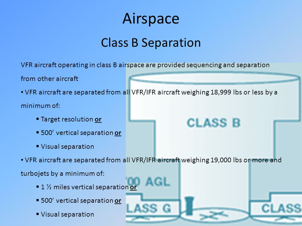 Airspace Class B Separation