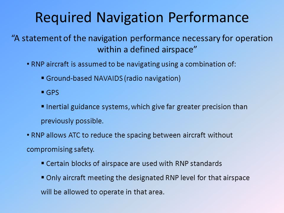 Required Navigation Performance