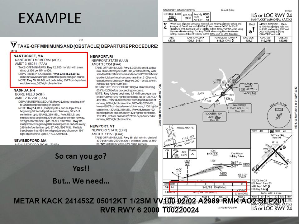 METAR KACK 241453Z 05012KT 1/2SM VV100 02/02 A2989 RMK AO2 SLP201
