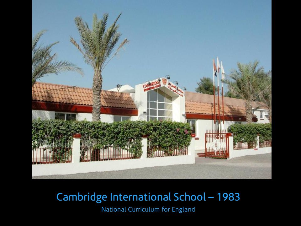 Cambridge International School – 1983