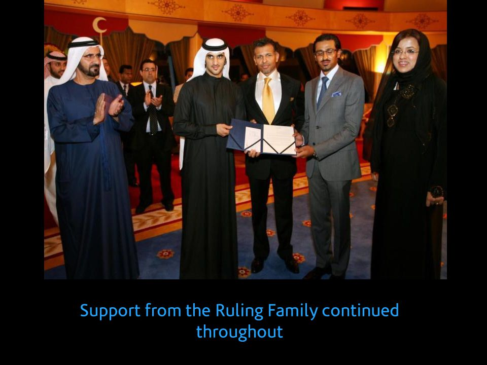 Support from the Ruling Family continued throughout