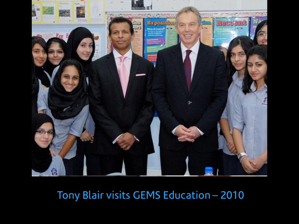 Tony Blair visits GEMS Education – 2010