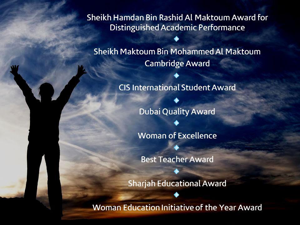 Sheikh Maktoum Bin Mohammed Al Maktoum Cambridge Award