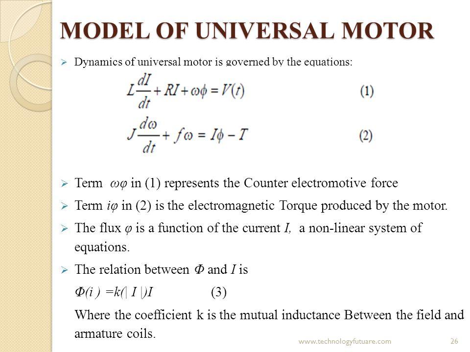 MODEL OF UNIVERSAL MOTOR