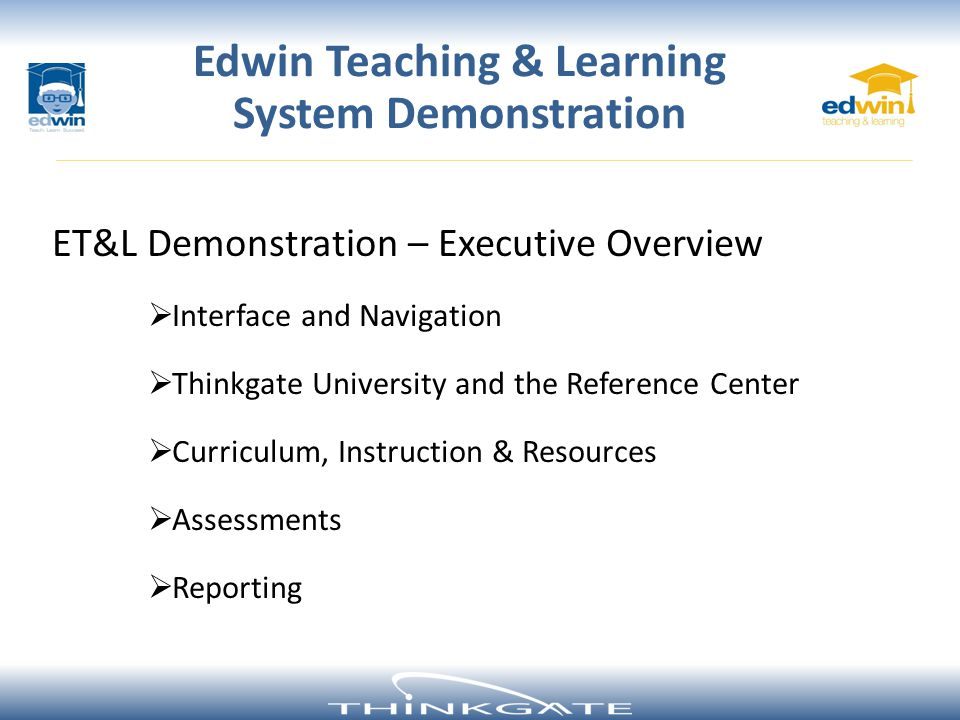 Edwin Teaching & Learning System Demonstration