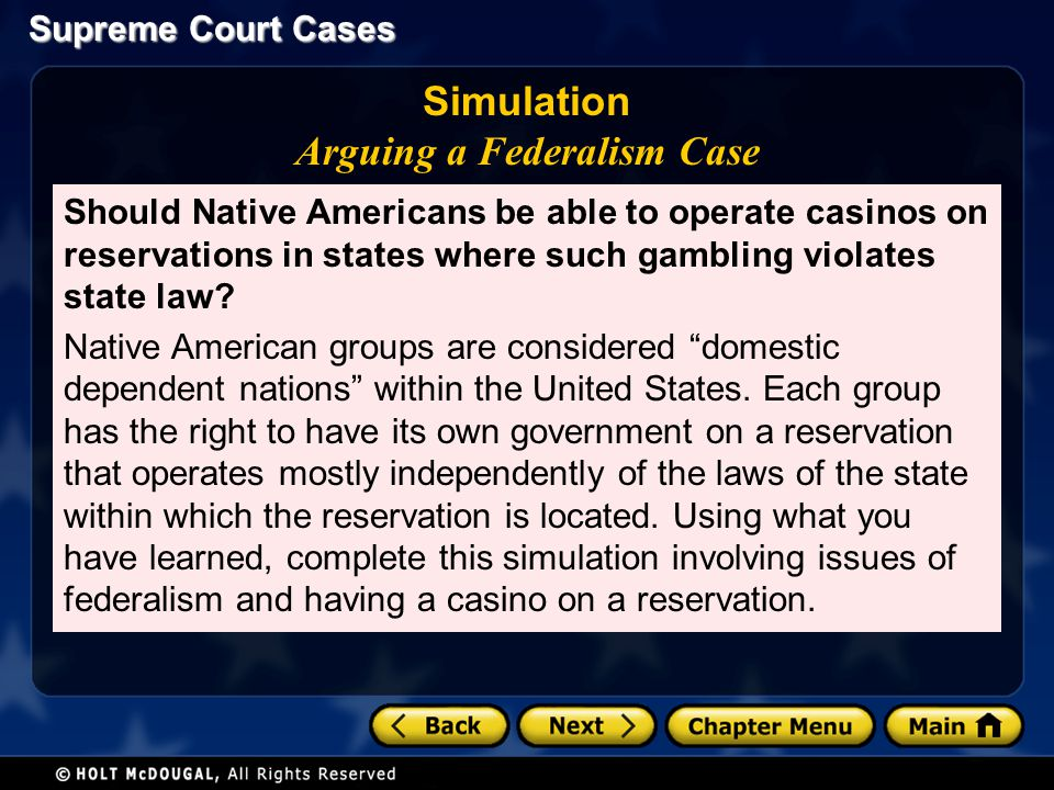 Simulation Arguing a Federalism Case
