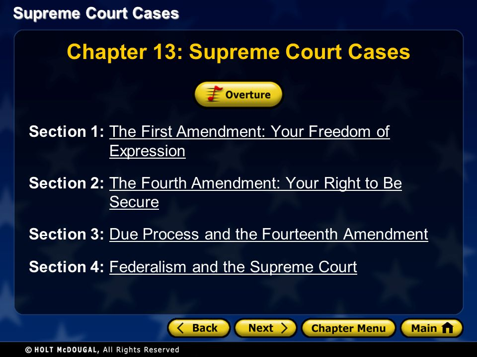 Chapter 13: Supreme Court Cases