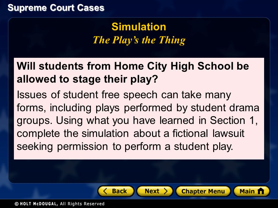 Simulation The Play's the Thing