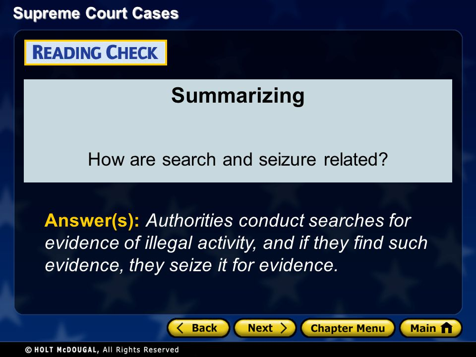 How are search and seizure related
