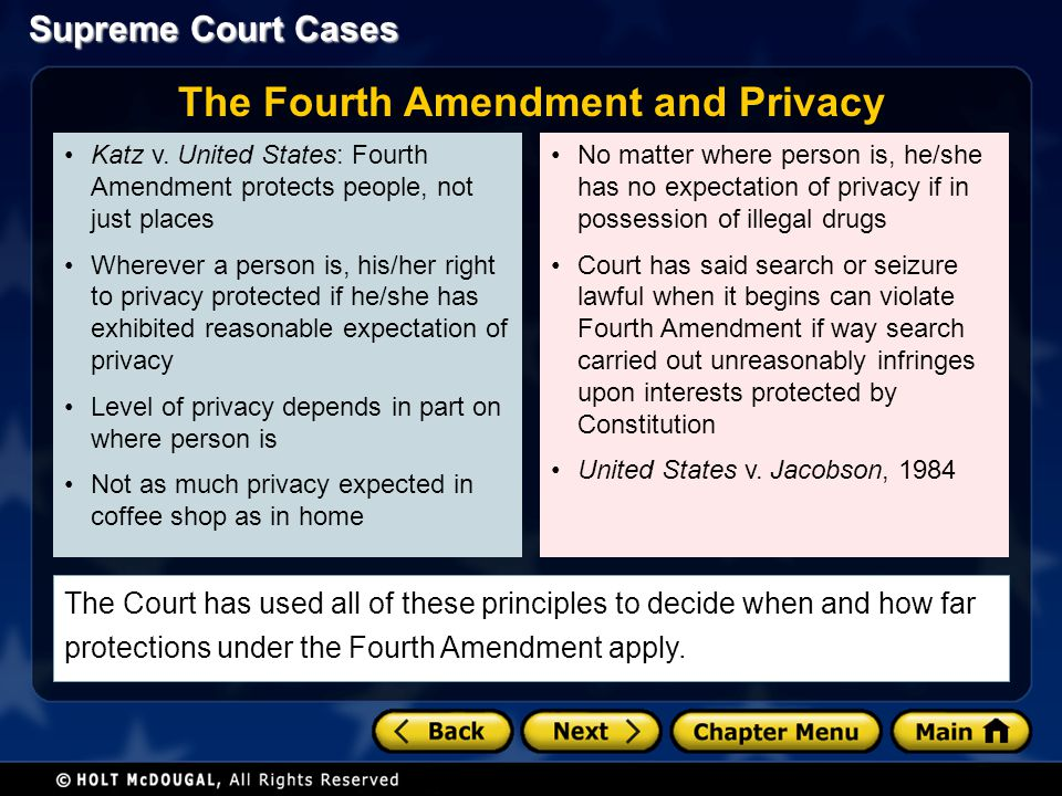 The Fourth Amendment and Privacy