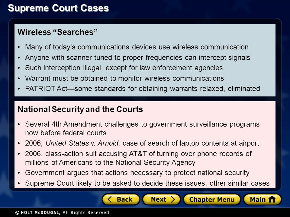 National Security and the Courts