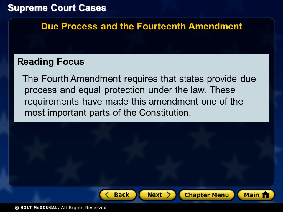 Due Process and the Fourteenth Amendment