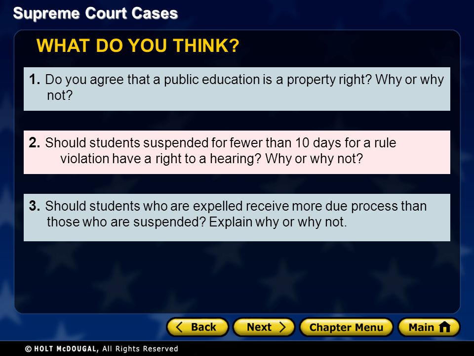 WHAT DO YOU THINK 1. Do you agree that a public education is a property right Why or why not
