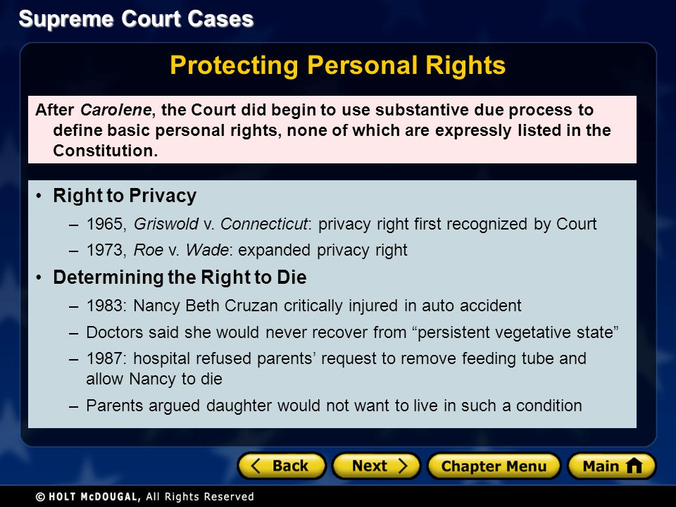 Protecting Personal Rights