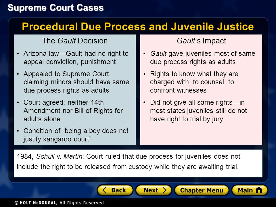 Procedural Due Process and Juvenile Justice