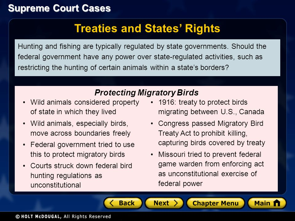 Treaties and States' Rights