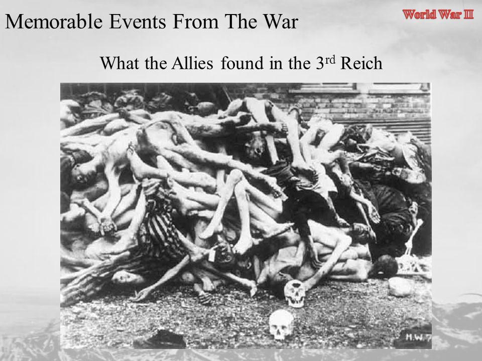 What the Allies found in the 3rd Reich