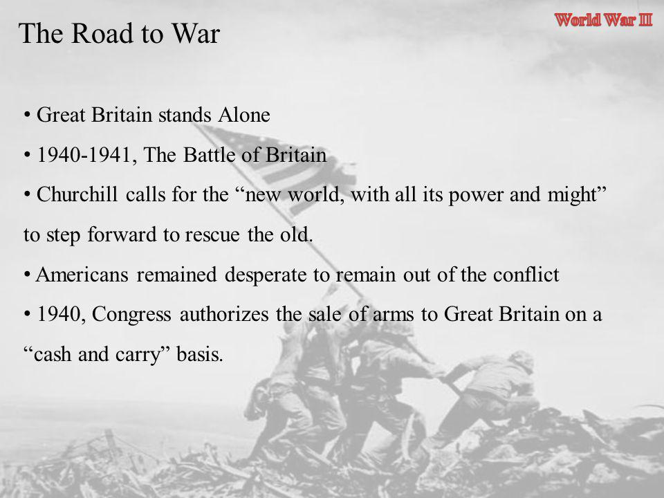 The Road to War Great Britain stands Alone