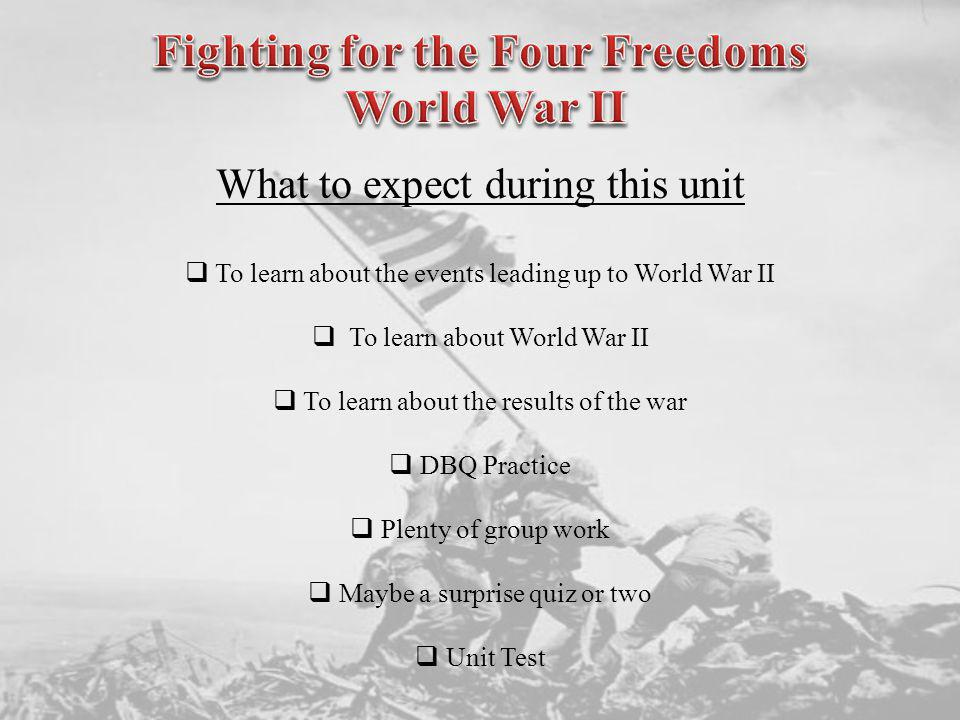 Fighting for the Four Freedoms