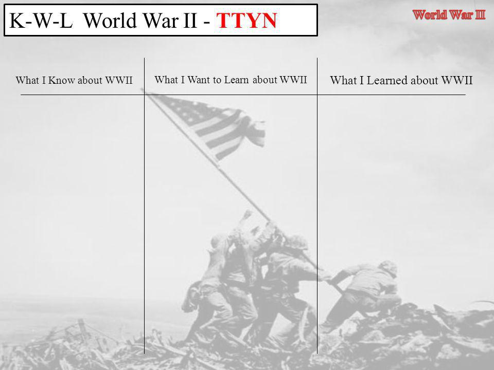 K-W-L World War II - TTYN