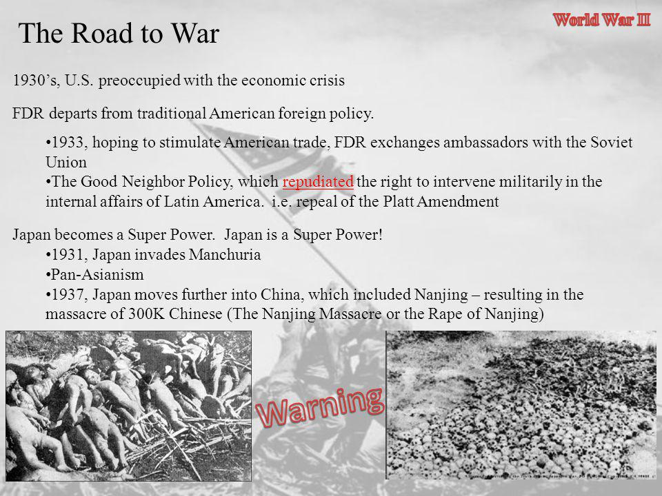 Warning The Road to War World War II