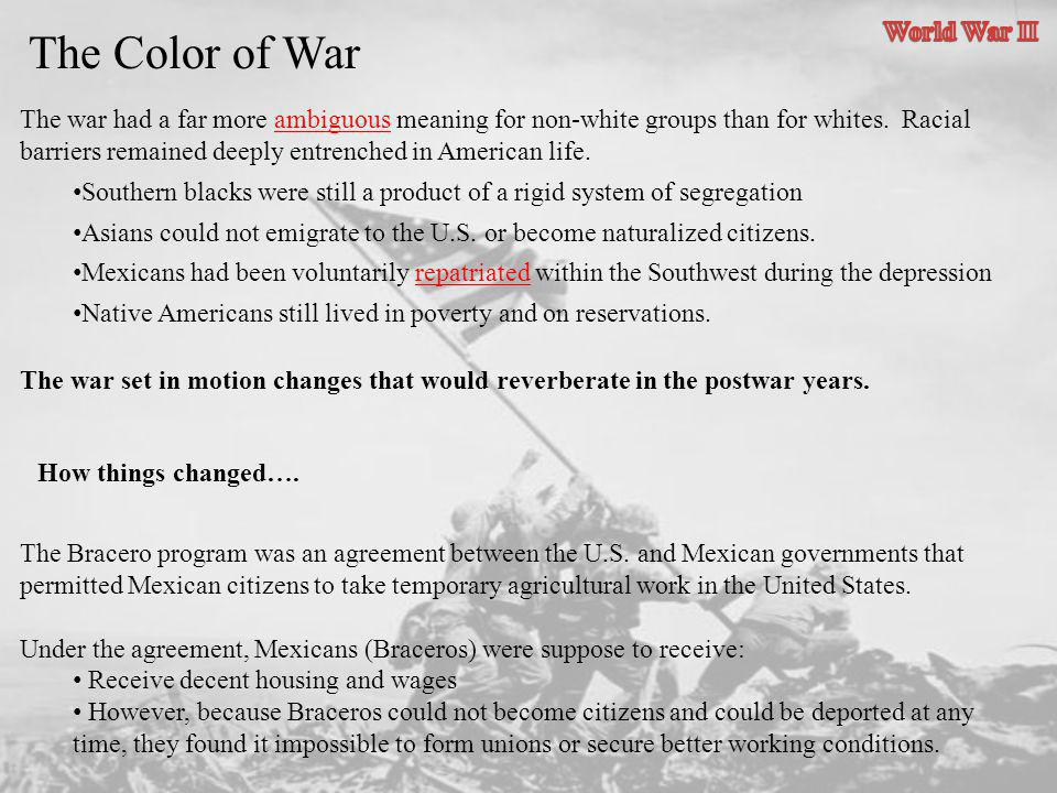 The Color of War World War II