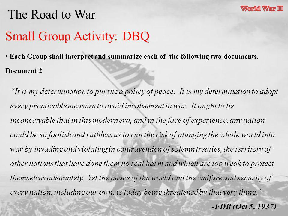 Small Group Activity: DBQ