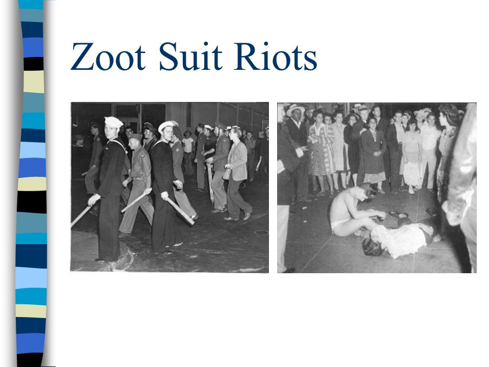 Zoot Suit Riots Images are described in audio.