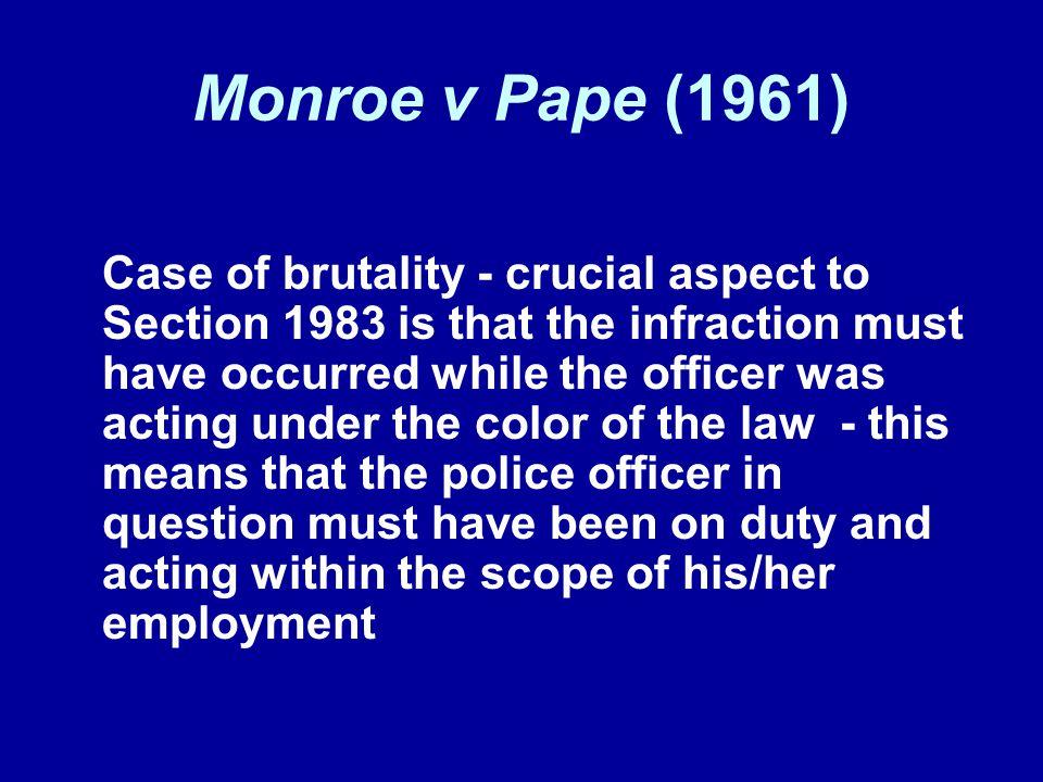 Monroe v Pape (1961)