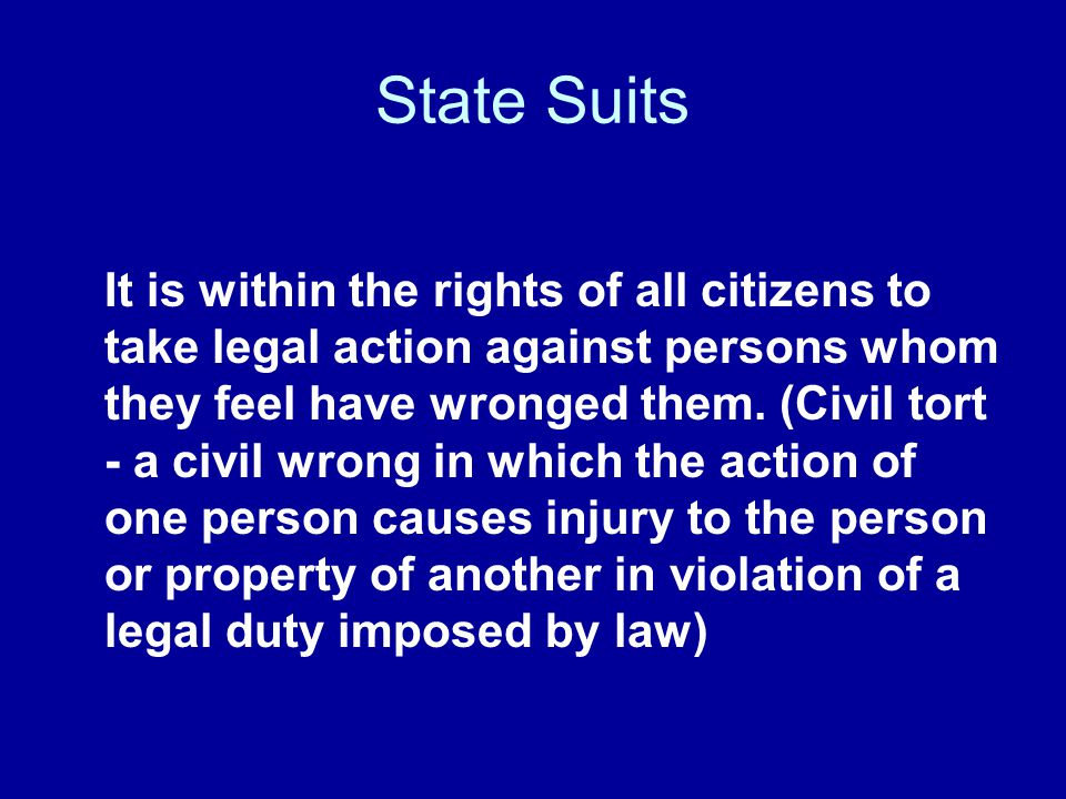 State Suits
