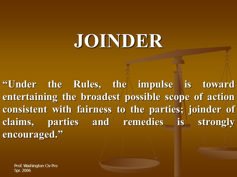 JOINDER