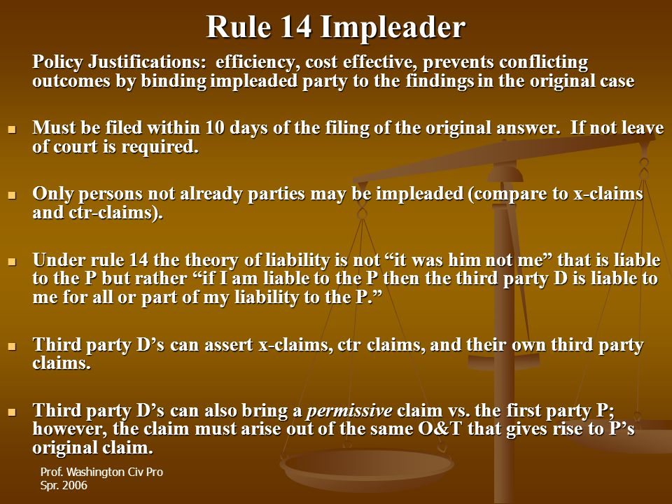 Rule 14 Impleader