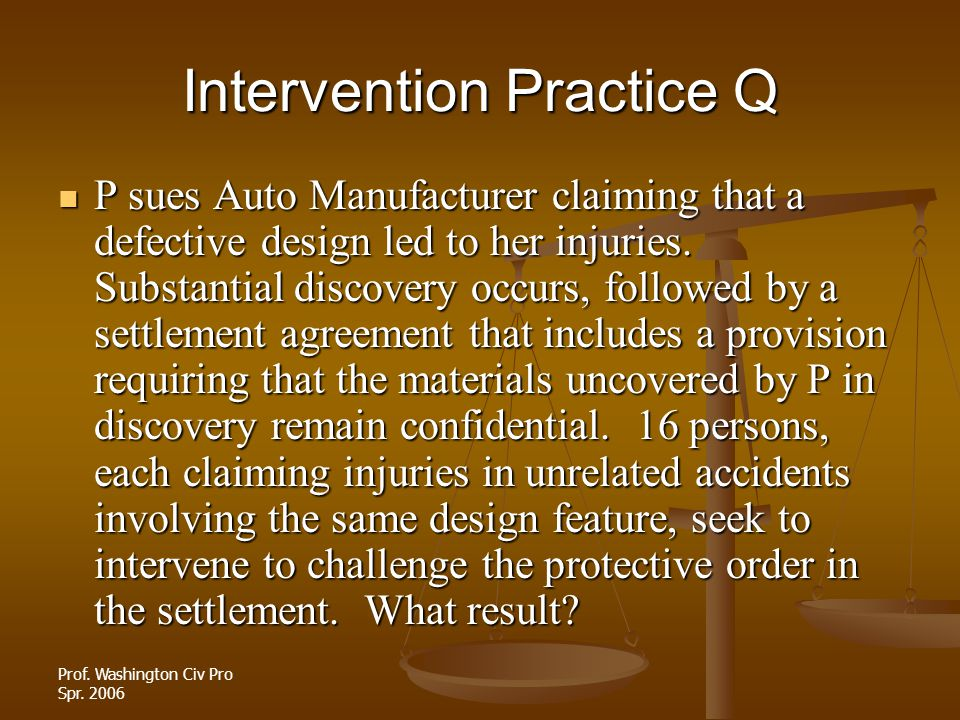 Intervention Practice Q